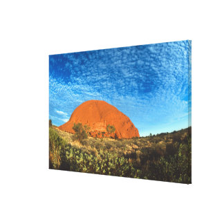 Red Glow of the Famous Ayers Rock in the Outback Canvas Print
