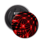 Red glowing net fractal bottle opener