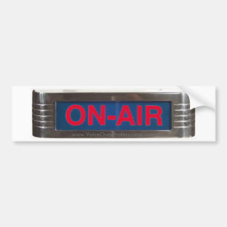 Red Glowing ON-AIR Classic Radio Sign Bumper Sticker