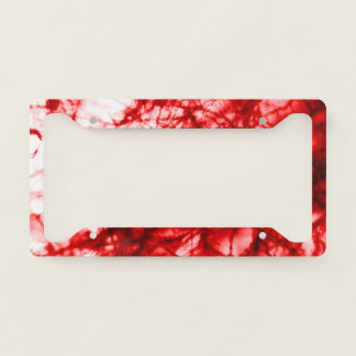 Red Gnarled Mold License Plate Frame