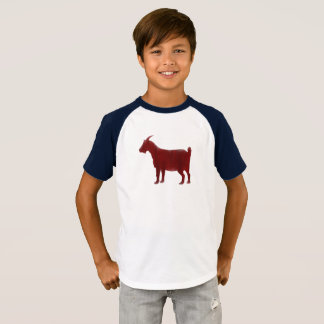 Red Goat Farm Animal Watercolor T-Shirt
