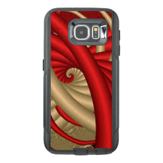Red & Gold Abstract Pattern OtterBox Samsung Galaxy S6 Case