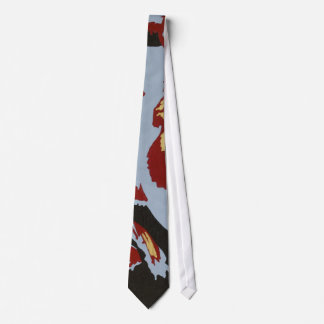 Red & Gold Abstract Tie