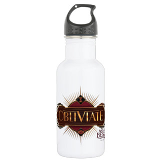 Red & Gold Art Deco Obliviate Spell Graphic 532 Ml Water Bottle