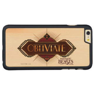 Red & Gold Art Deco Obliviate Spell Graphic Carved® Maple iPhone 6 Plus Case