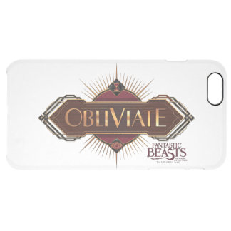 Red & Gold Art Deco Obliviate Spell Graphic Clear iPhone 6 Plus Case