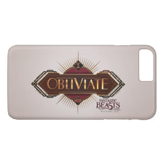 Red & Gold Art Deco Obliviate Spell Graphic iPhone 7 Plus Case