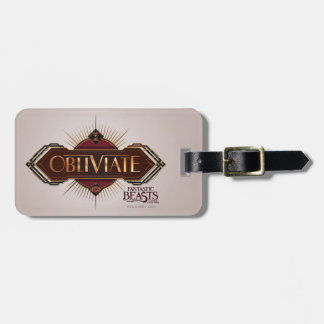 Red & Gold Art Deco Obliviate Spell Graphic Luggage Tag