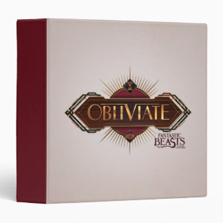 Red & Gold Art Deco Obliviate Spell Graphic Vinyl Binders