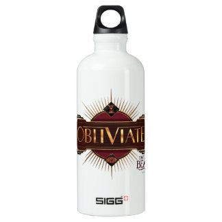 Red & Gold Art Deco Obliviate Spell Graphic Water Bottle