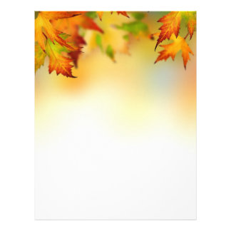 Red gold autumn leaves Letterhead