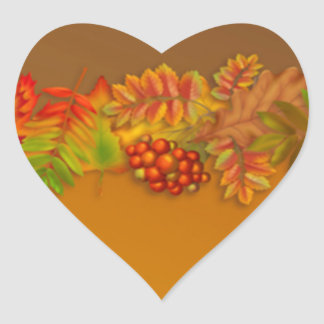 Red Gold Brown fall leaves Sticker