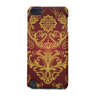 Red & Gold Damask 1 iPod Touch 5G Cases