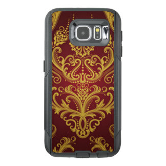 Red & Gold Damask 1 OtterBox Samsung Galaxy S6 Case