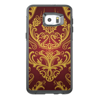 Red & Gold Damask 1 OtterBox Samsung Galaxy S6 Edge Plus Case