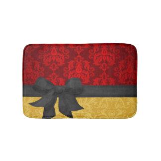 Red & Gold Damask Bathroom Mat