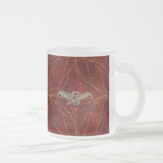 Red Gold Dragon Mugs