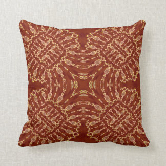 Red Gold Geometric Throw Pillow