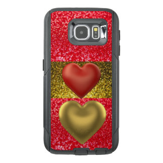 Red & Gold Glitter Cell Phone Case