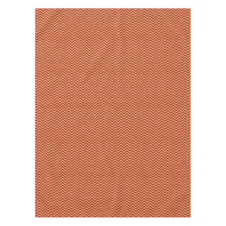 Red Gold Glitter Zigzag Stripes Chevron Pattern Tablecloth
