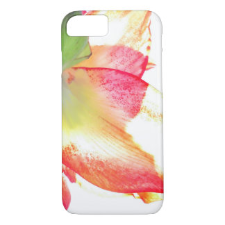 Red Gold Green Amaryllis Abstract iPhone 7 Case