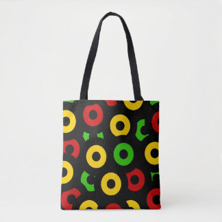 Red Gold Green Sleeves Tote Bag