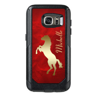 Red Gold Horse OtterBox Samsung Galaxy S7 Case