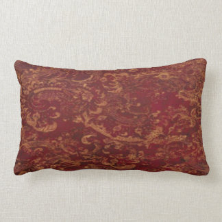 Red & Gold old Damask look Cushion