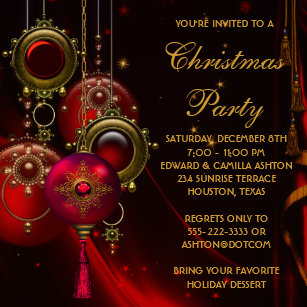 corporate christmas invitations announcements zazzle ca