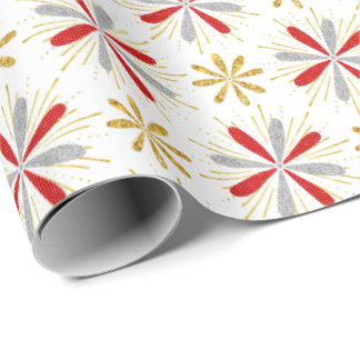 Red Gold Silver Christmas Wrap Wrapping Paper