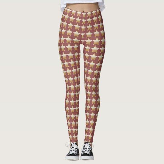 Red Gold Star leggings