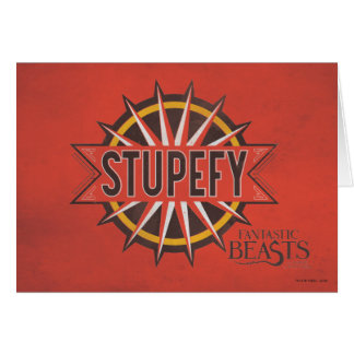 Red & Gold Stupefy Spell Graphic Card