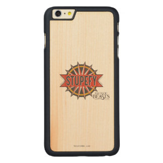 Red & Gold Stupefy Spell Graphic Carved® Maple iPhone 6 Plus Case