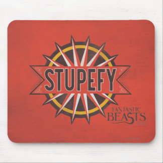 Red & Gold Stupefy Spell Graphic Mouse Pad