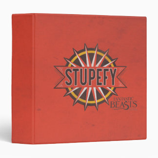 Red & Gold Stupefy Spell Graphic Vinyl Binder