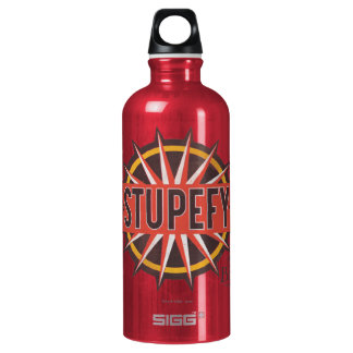 Red & Gold Stupefy Spell Graphic Water Bottle