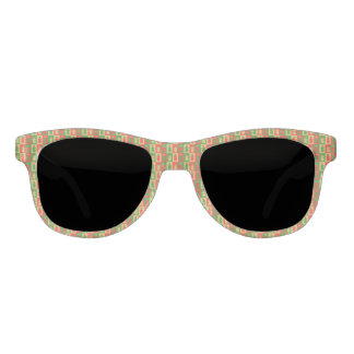 Red, golden and green snowman sunglasses
