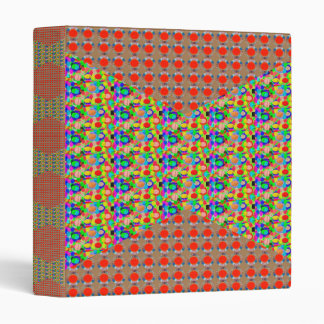 RED Golden DOTS Jewel PATTERN Graphics HOME Office 3 Ring Binders