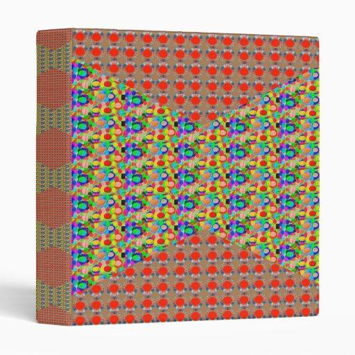 RED Golden DOTS Jewel PATTERN Graphics HOME Office Vinyl Binders
