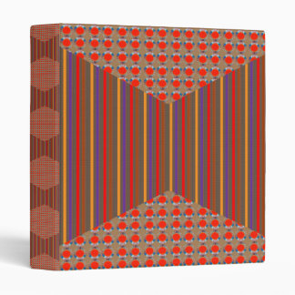 RED Golden DOTS Jewel PATTERN Graphics HOME Office 3 Ring Binder