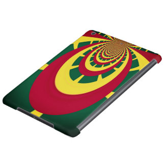 Red Golden Green Cool Jamaica Rasta Colors iPad Air Case