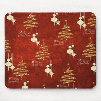 Red & Golden Merry Christmas Mousepad