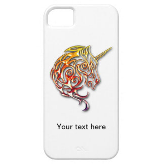 Red golden tribal unicorn iphone cover design