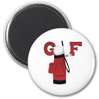 Red Golf Bag Golf Magnet