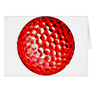 Red Golf Ball1 jGibney The MUSEUM Zazzle Gifts Greeting Card