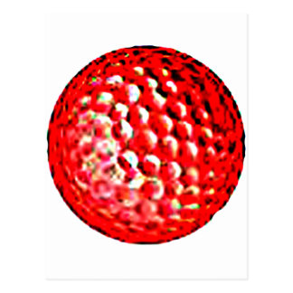 Red Golf Ball1 jGibney The MUSEUM Zazzle Gifts Postcard