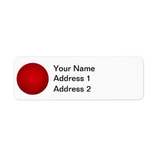 Red Golf Ball Return Address Label