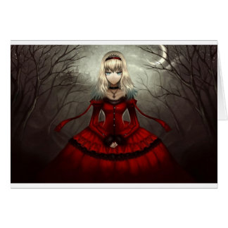 Red Gothic Card