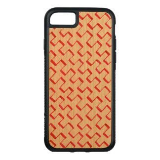 Red Gouache Diagonal Geometric Pattern Carved iPhone 8/7 Case