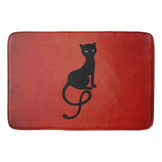Red Gracious Evil Black Cat Bathroom Mat